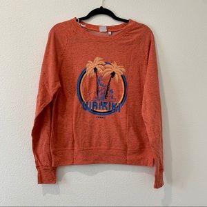 Somedays lovin Waikiki orange sweater